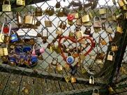 The Love Lock Bridge! I was a fan of the creativity with a bike lock here.