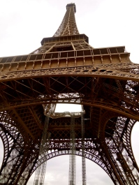 BAM! Out of nowhere, we were at the Eiffel Tower.