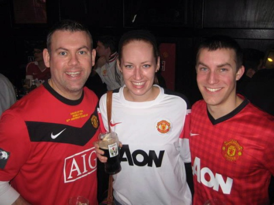 ... rowdy gatherings of die-hard Manchester United fans...
