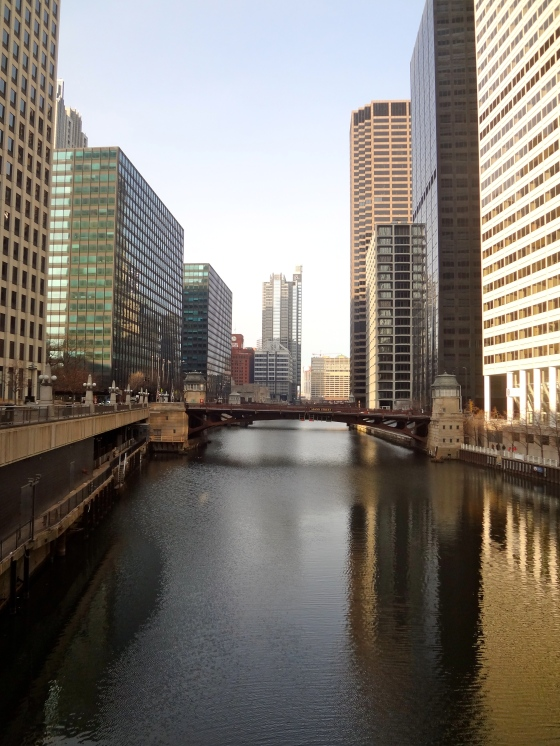 There are tons of bridges over the pretty little Chicago River!