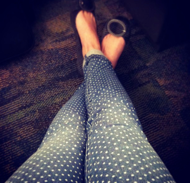new jeans! dots on dots on dots