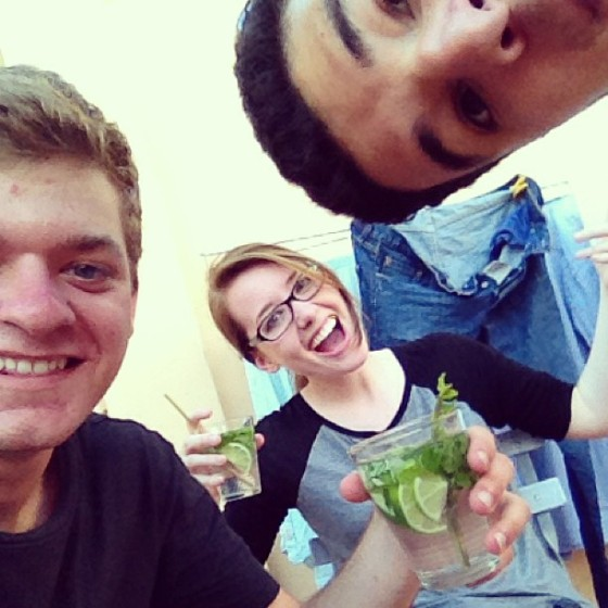 Mojitos + laundry. A winning combination