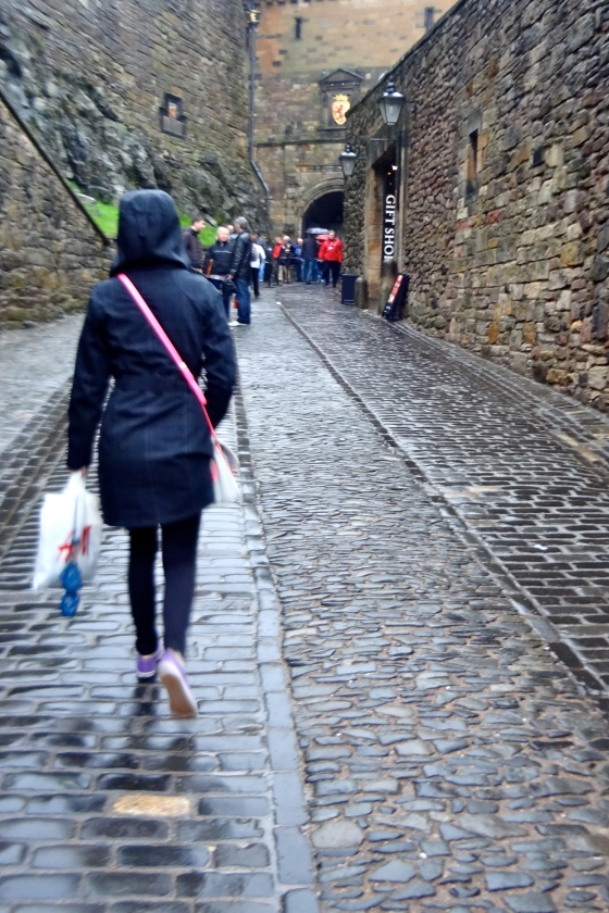 Did some walking through Diagon Alley - uh, we mean Edinburgh Castle.