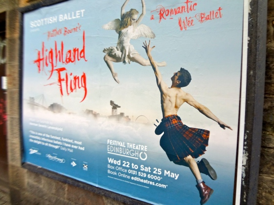 Who WOULDN'T want to see a ballet like this? I mean... kilts. Come on.