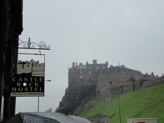Closest neighbor to the hostel was Edinburgh Castle. NBD.