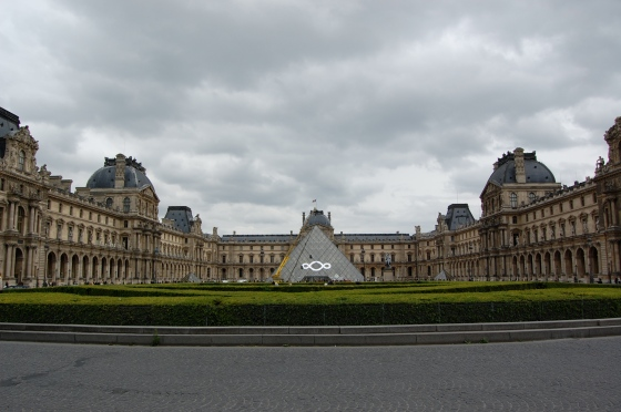 The Louvre looked pretty cool from the outside. Don't ask us about inside though ;)