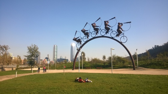 """I was told this is """"THE shot"""" to take of Parque Bicentenario. Check."""