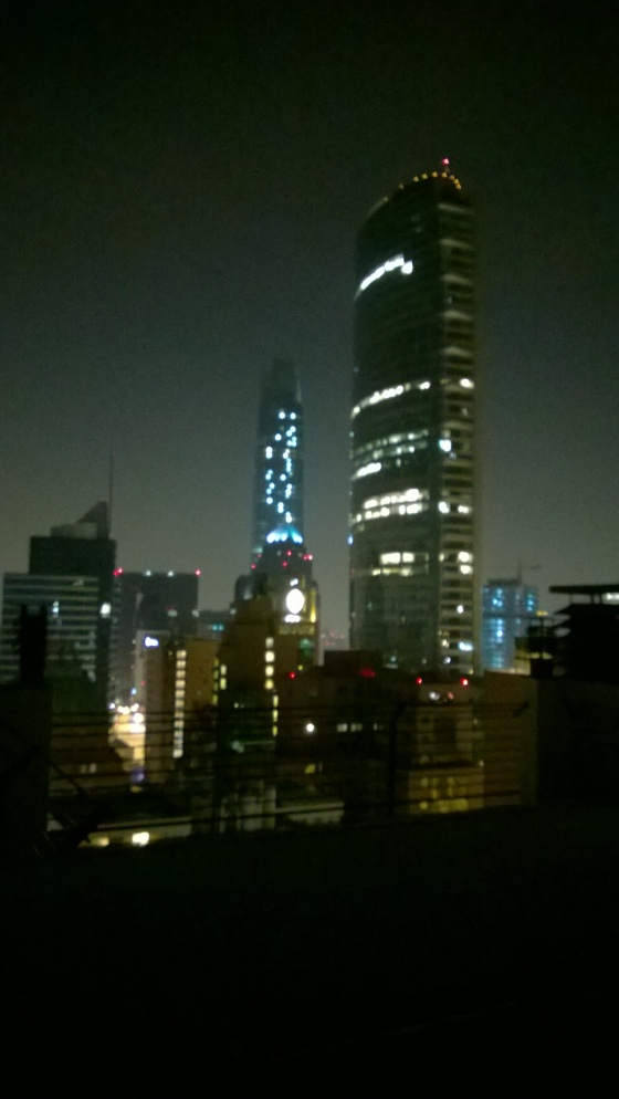 """A view from my last night walking through """"Sanhattan"""", as they like to call it."""